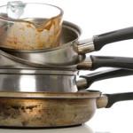 Как отмыть пригоревшую сковороду?