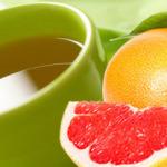 Напиток: грейпфрут + зеленый чай