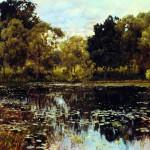 Левитан: картина «Заросший пруд»